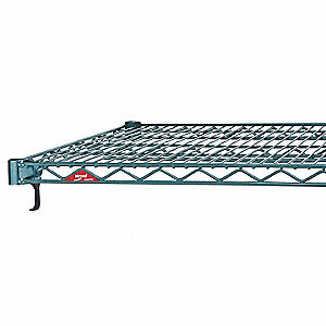 "60""W x 14""D Wire Shelf, Epoxy Finish, 600 lb. Shelf Capacity, Green"
