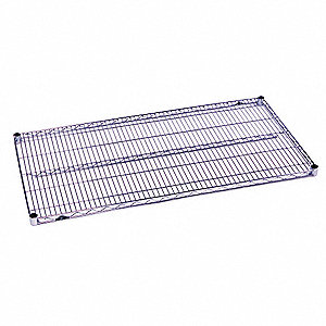 "72"" x 18"" Steel Wire Shelf with 600 lb. Capacity, Silver"