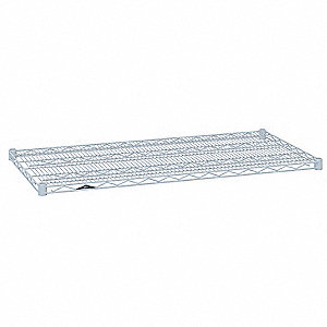 "42""W x 18""D Wire Shelf, Epoxy Finish, 800 lb. Shelf Capacity, White"