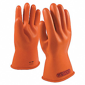 ELECTRICAL RATED GLOVES,ORG,CLASS 0