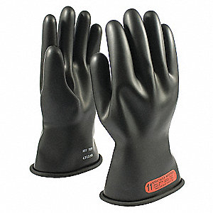 ELECTRICAL RATED GLOVES BLK CLASS 0