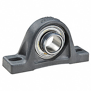 Pillow Block Bearing, Number of Bolts: 2, Ball Bearing Type, 30mm Bore Dia.