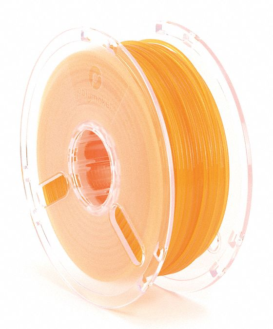 3D Printing Filament,  PLA,  Orange,  Diameter 3 mm,  1.00 kg