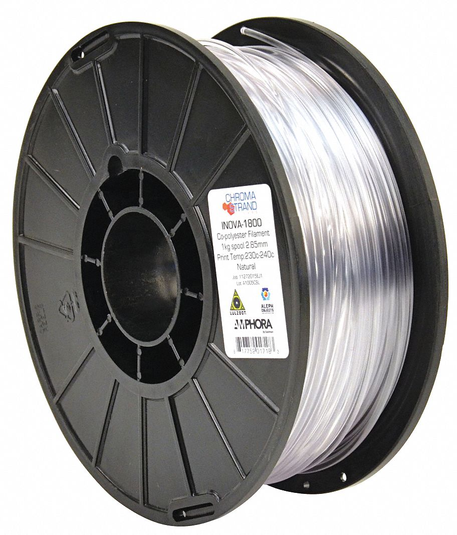 3D Printing Filament,  PETG,  Natural,  Diameter 3 mm,  1.00 kg