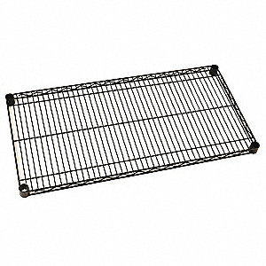 Wire Shelf,18x48 in.,Black Matte