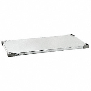 "36"" x 18"" Steel Solid Shelf with 800 lb. Capacity, Silver"