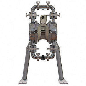 Stainless Steel PTFE Single Double Diaphragm Pump, 86 gpm, 125 psi