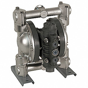 316 Stainless Steel Hytrel Single Double Diaphragm Pump, 32 gpm, 100 psi