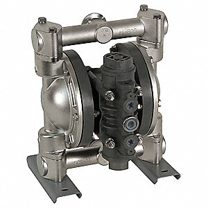 316 Stainless Steel PTFE Single Double Diaphragm Pump, 32 gpm, 100 psi