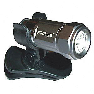 LED Industrial Hands Free Light, Aluminum, Gray, 2.00""
