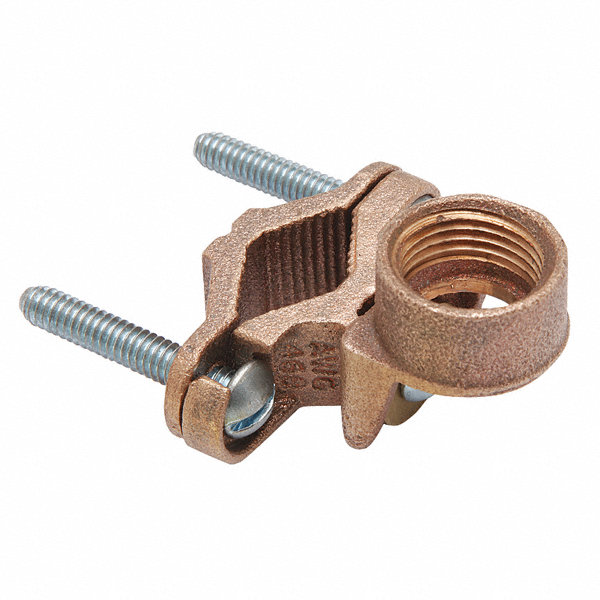 Burndy pipe ground clamp solid cast bronze commercial