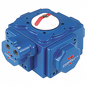 "5-11/64"" x 5-11/64"" x 3-31/32"" Aluminum Compact Pneumatic Actuator, 0.13 sec. Cycle Time"