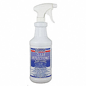 Glass Cleaner,32 oz.,Light Blue,PK12