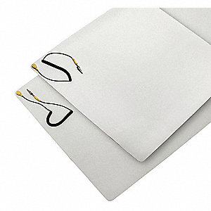 Dissipative Table Mat,4 x 2 ft,w/Strap