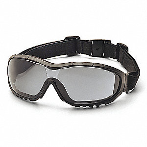 EYEWEAR, GRY ANTI-FOG W TEMP STRAP
