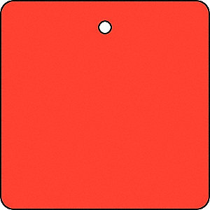 Blank Tag,1-1/2 x 1-1/2In,Red,PK10