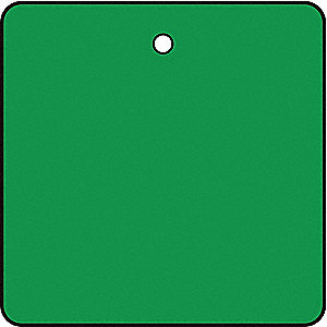 Blank Tag,1 x 1In,Green,PK10