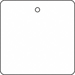 "Blank Tag, Plastic, Height: 2"", Width: 2"", White"