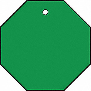 Blank Tag,1-1/2 x 1-1/2In,Green,PK10