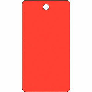 Blank Tag,5-3/4 x 3In,Red,PK25