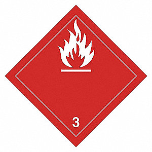LABELS 4X4 500/RL CLASS 3 FLAMMABLE