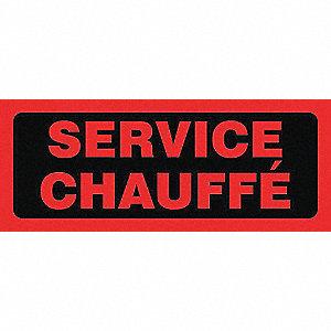 ETIQ 2X5PO SERVICE CHAUFFE 500/RL