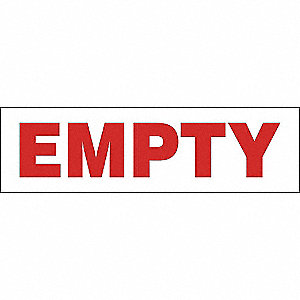 ETIQ 2X7PO EMPTY 500/RL