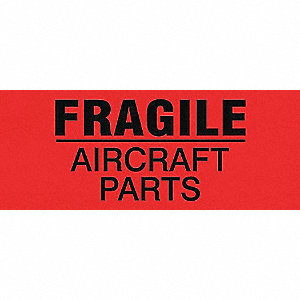 LABELS 2X5 500/RL FRAGILE AIRCRAFT
