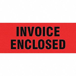 LABELS 2X5 500/RL INVOICE ENCLOSED