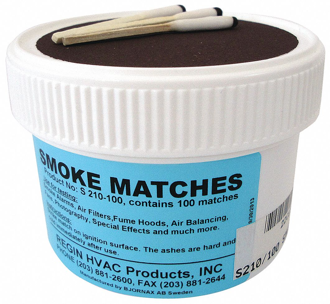 Smoke Matches,  15 to 20 sec Time,  20 to 30 Volume (Cu.-Ft.),  PK 100
