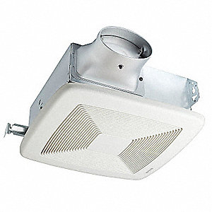 Bathroom Fan,80 CFM,0.3A,36W