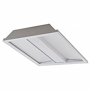 LED Recessed Troffer, LED Replacement For 1 Lamp LFL, 4000K, Lumens 3200, Rated Life 75,000 hr.