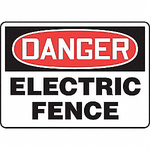 "Electrical Hazard, Danger, Vinyl, 10"" x 14"", Adhesive Surface, Not Retroreflective"