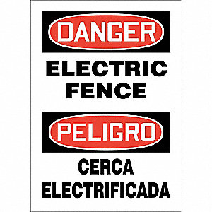 "Electrical Hazard, Danger/Peligro, Aluminum, 14"" x 10"", With Mounting Holes, Not Retroreflective"