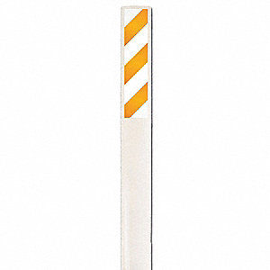 Orange and White/White Flexible Marker Stake