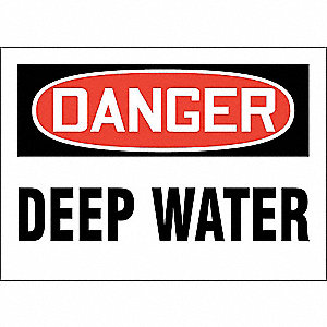 Danger Sign,Alum,7x10 In,English