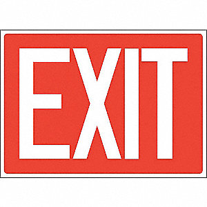 Exit Sign,Plastic,7x10 In.,English