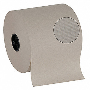 1000 ft. 1-Ply Paper Towel Roll, Brown&#x3b; PK6
