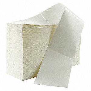 "Thermal Transfer Thermal Transfer Label, White, 4""W x 6"""
