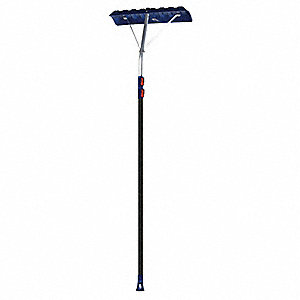 "Snow Roof Rake Scraper, Poly Blade Material, 22"" Blade Width, 6-1/2"" Blade Height"