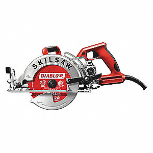 "7-1/4"" Worm Drive Circular Saw, 4500 No Load RPM, 15.0 Amps, Blade Side: Left"