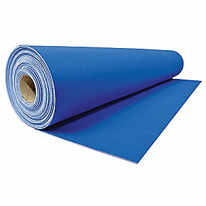 "20 ft. x 27"" Plastic Floor Protection, Blue"