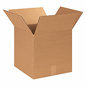 "Shipping Carton, Kraft, Inside Width 14"", Inside Length 14"", Inside Depth 14"", 65 lb., 250 PK"