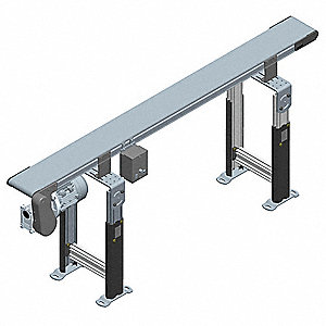 Belt Conveyor,6 ft. L,12 In. W,80 lb.