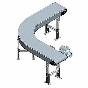 Modular Belt Curve Conveyor,14 In. W