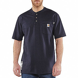 FR COTTON FORCE SHORT SLEEVE HENLEY