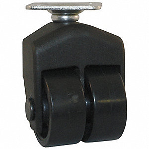 "1-1/2"" Light-Duty Rigid Plate Caster, 150 lb. Load Rating"
