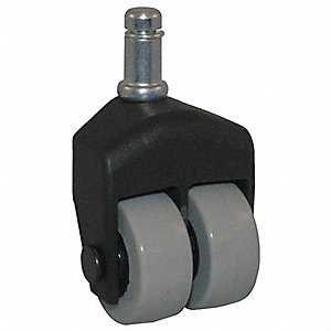 "1-1/2"" Light-Duty Swivel Stem Caster, 150 lb. Load Rating"