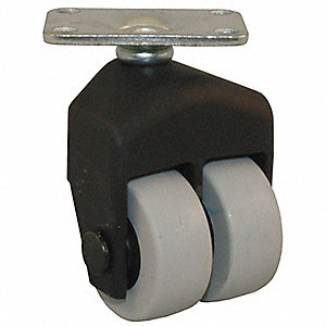 "1-1/2"" Light-Duty Swivel Plate Caster, 150 lb. Load Rating"