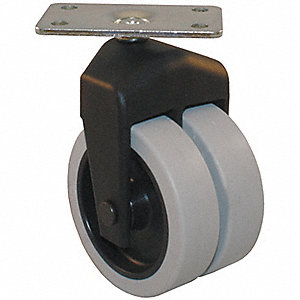 "3"" Light-Duty Swivel Plate Caster, 150 lb. Load Rating"